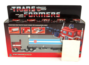 1985 Optimus Prime with store receipt
