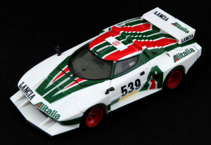 Takara's Masterpiece Wheeljack faithfully re-creates the details of the original car, except for numerous omitted racing decals.