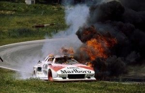 One of the turbos meets is grisly fate in Austria. Don't smoke cigarettes, kids!