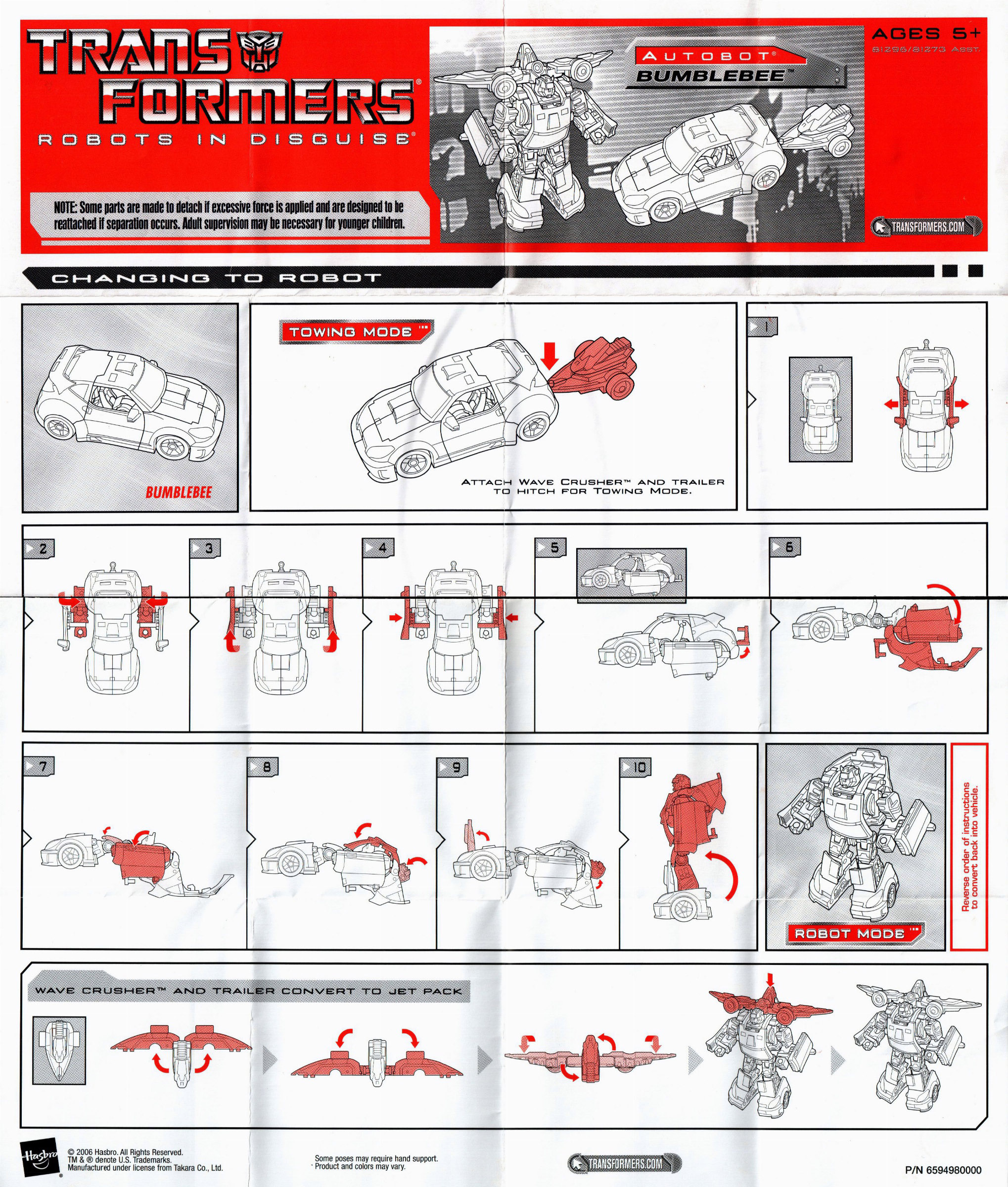bumblebee transformer instructions 2011