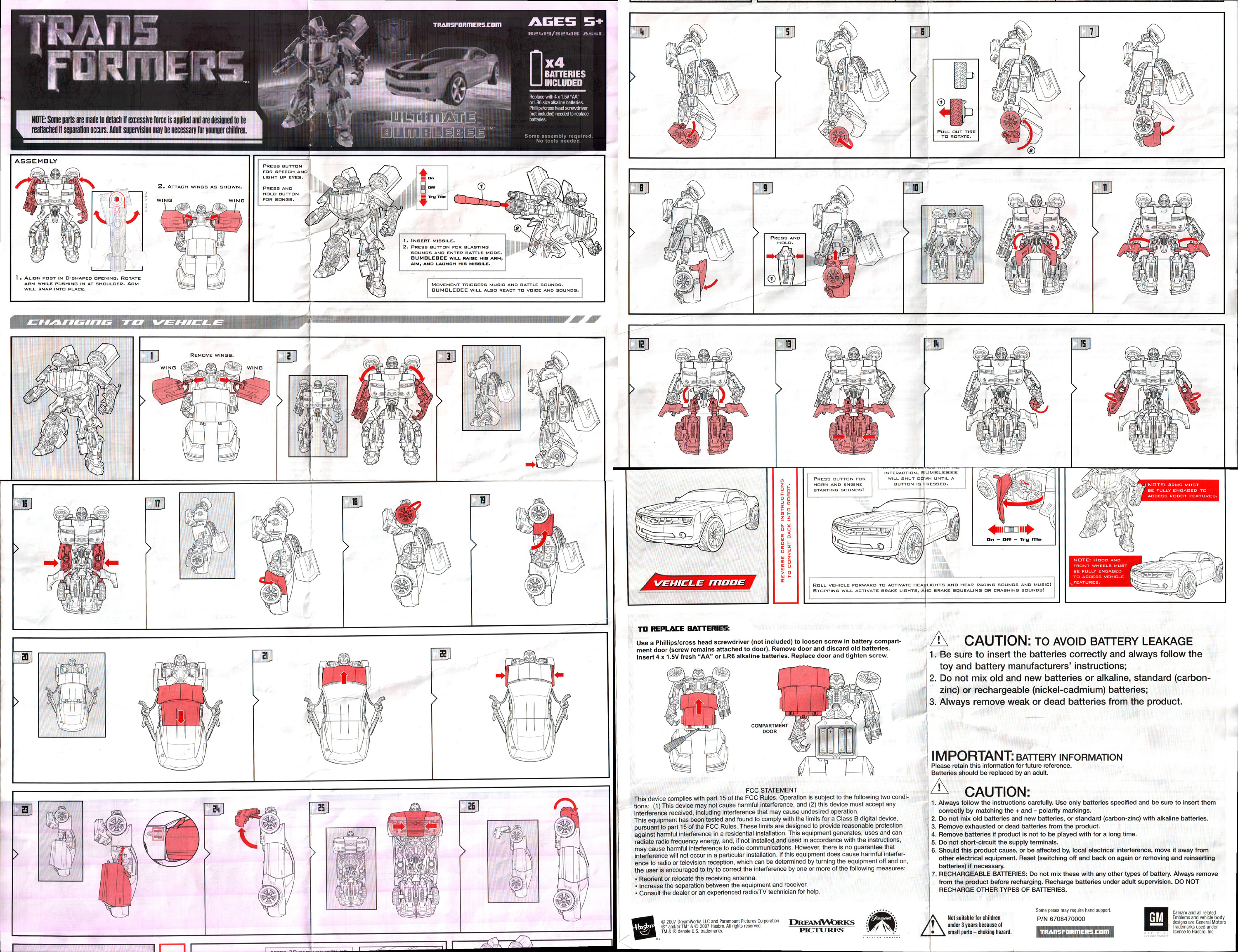 Bumblebee transformers toy instructions.