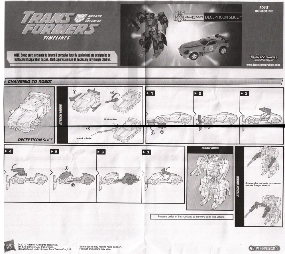 Transformers Botcon Timelines Slice Complete 2010