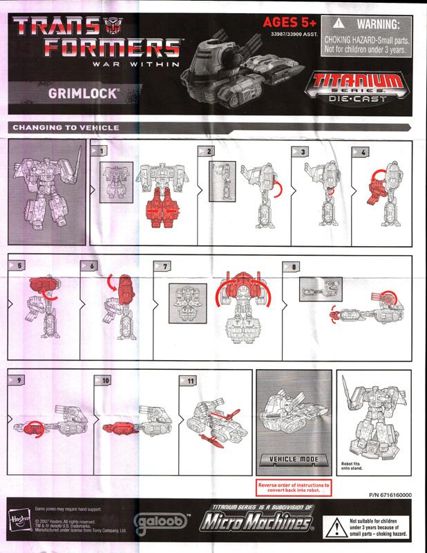 6 Inch Cybertron Heroes Grimlock War Within Transformers Titanium Autobot
