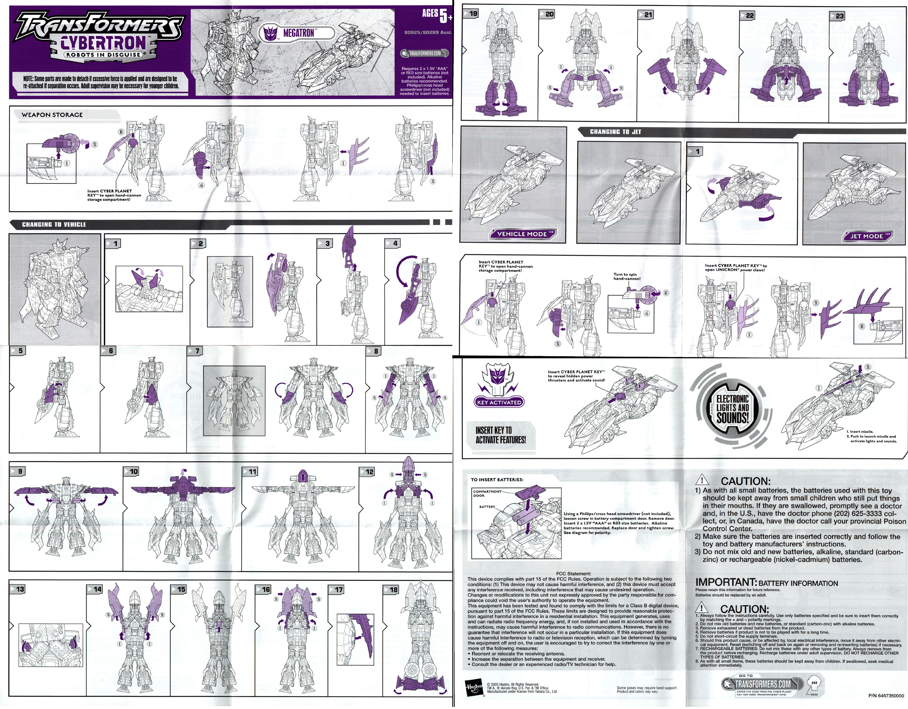 Transformers cybertron megatron leader class action fig.