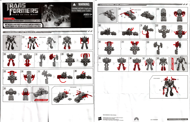 Cyberverse Commander Class Optimus Prime Battle Steel