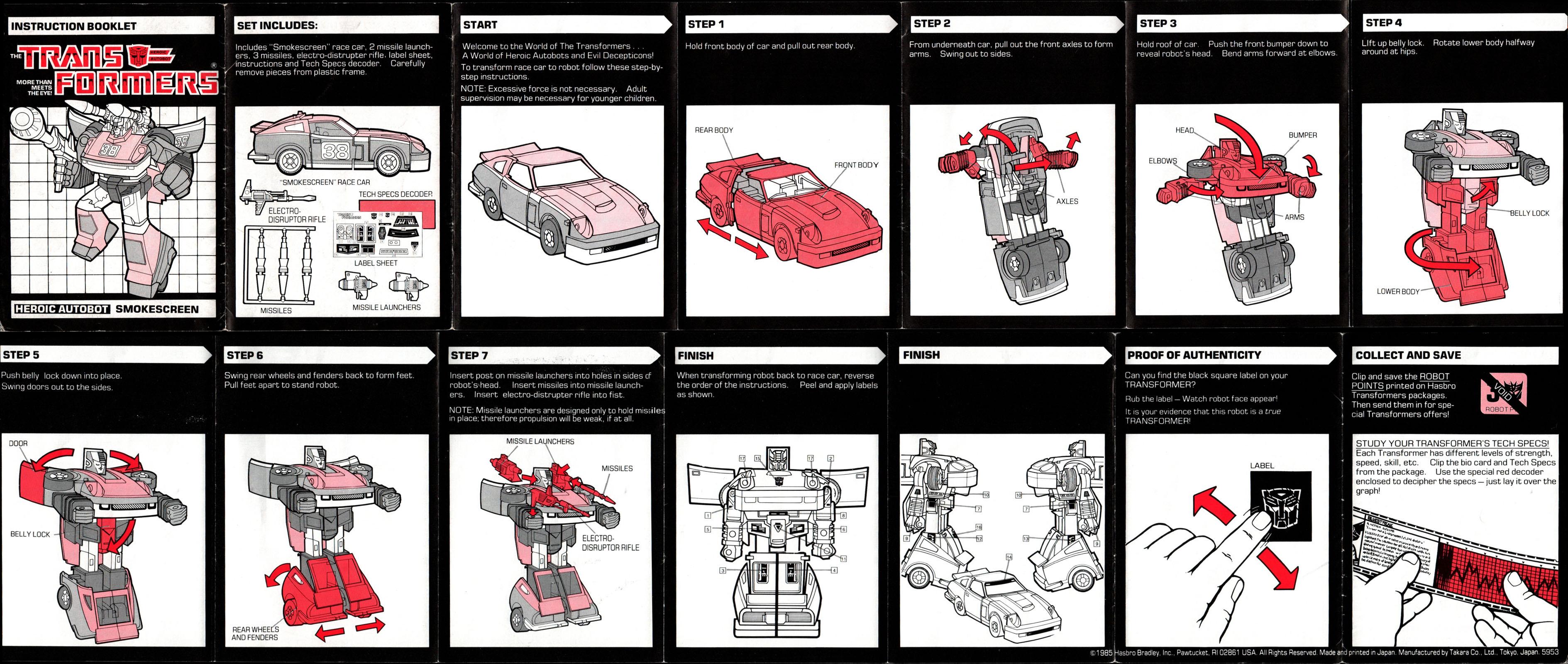 Transformers G1 SMOKESCREEN Rubber Tire Figure Accessory