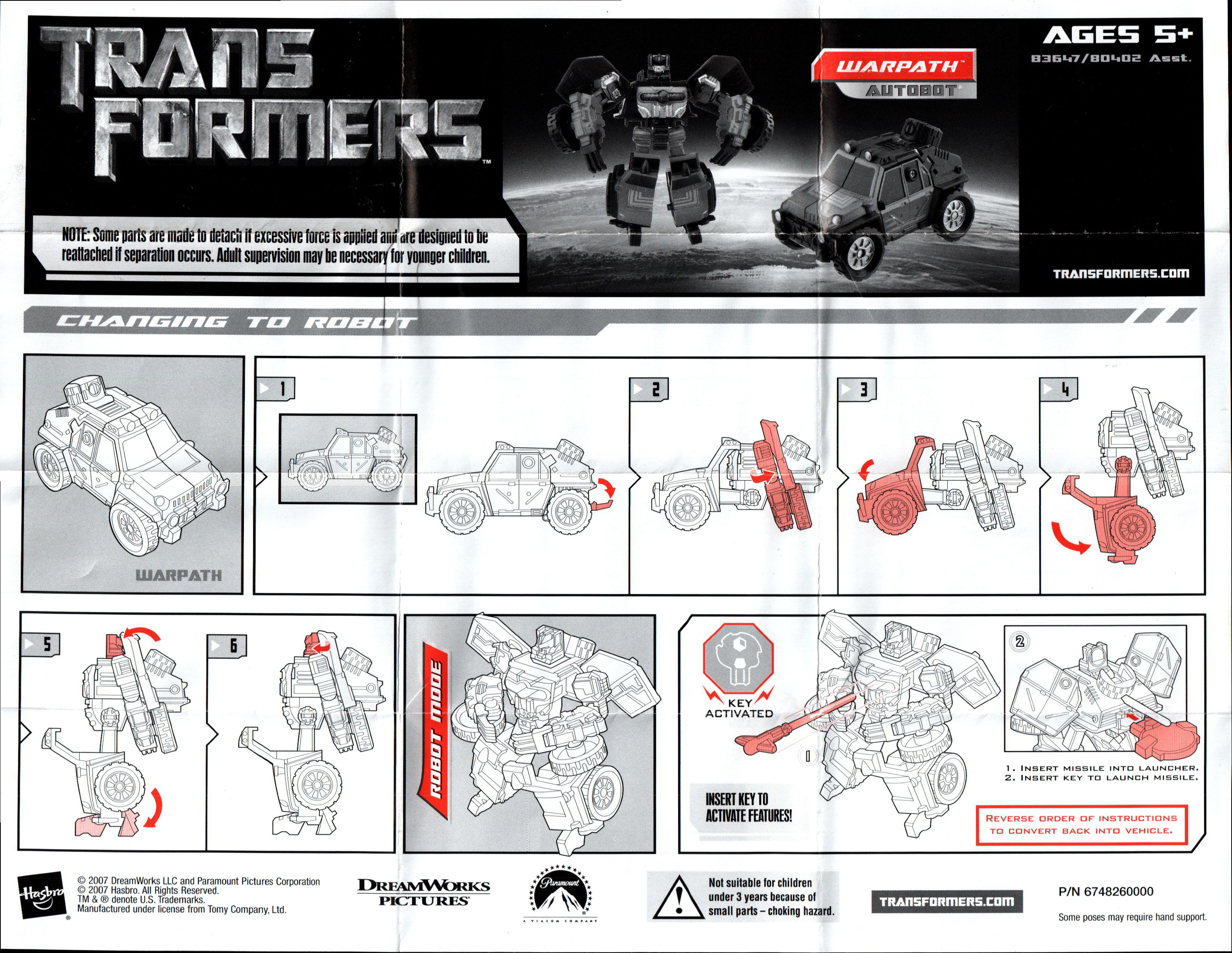 Target Toy Guide : Scout class warpath transformers movie autobot