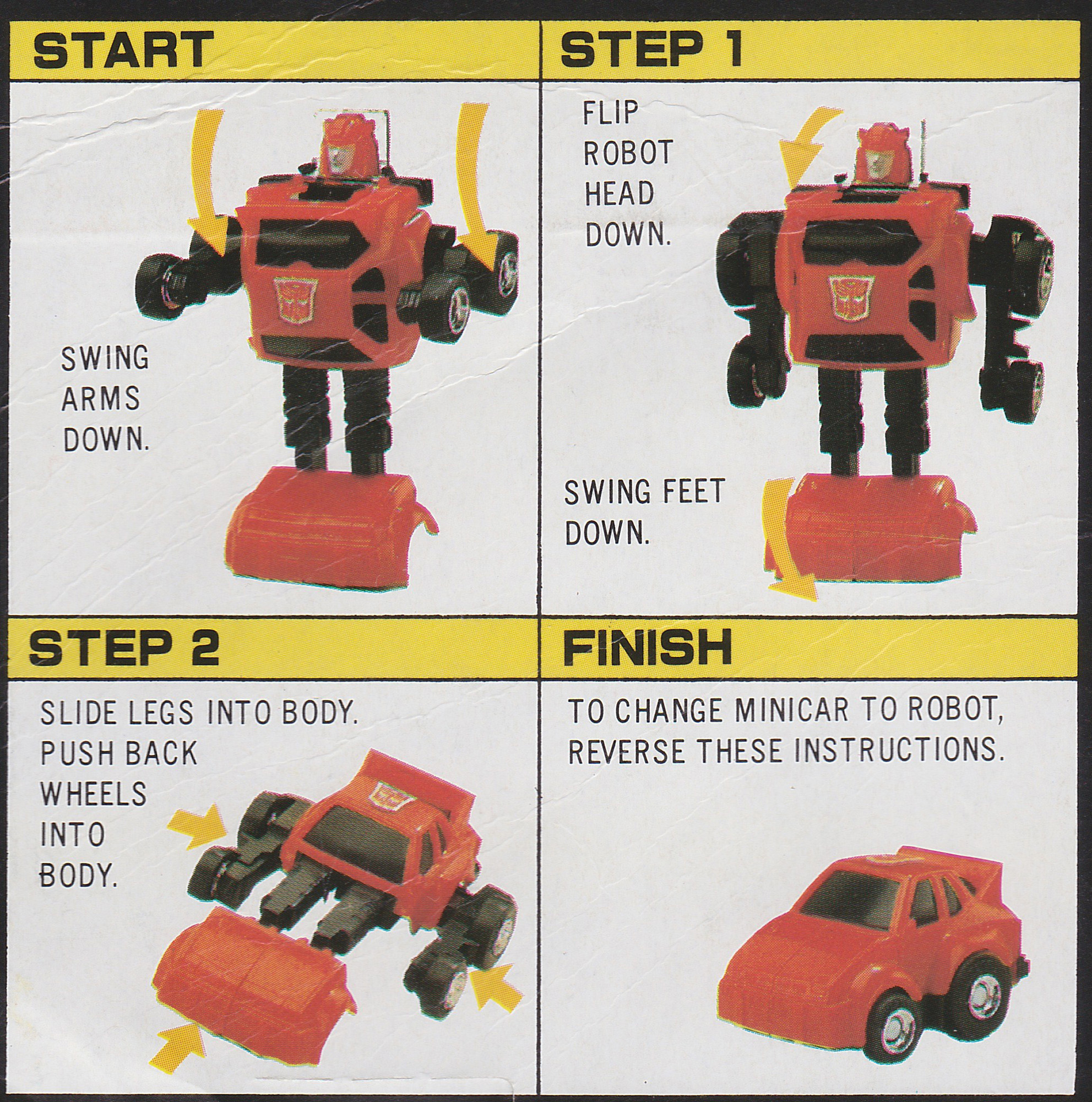 Cliff Jumper /& Hubcap Transformers Autobot G1 Style Robot Toy 2 In 1 Set