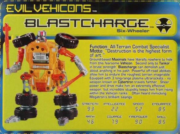 Transformers Beast Machines Blastcharge DLX Class NEW SEALED
