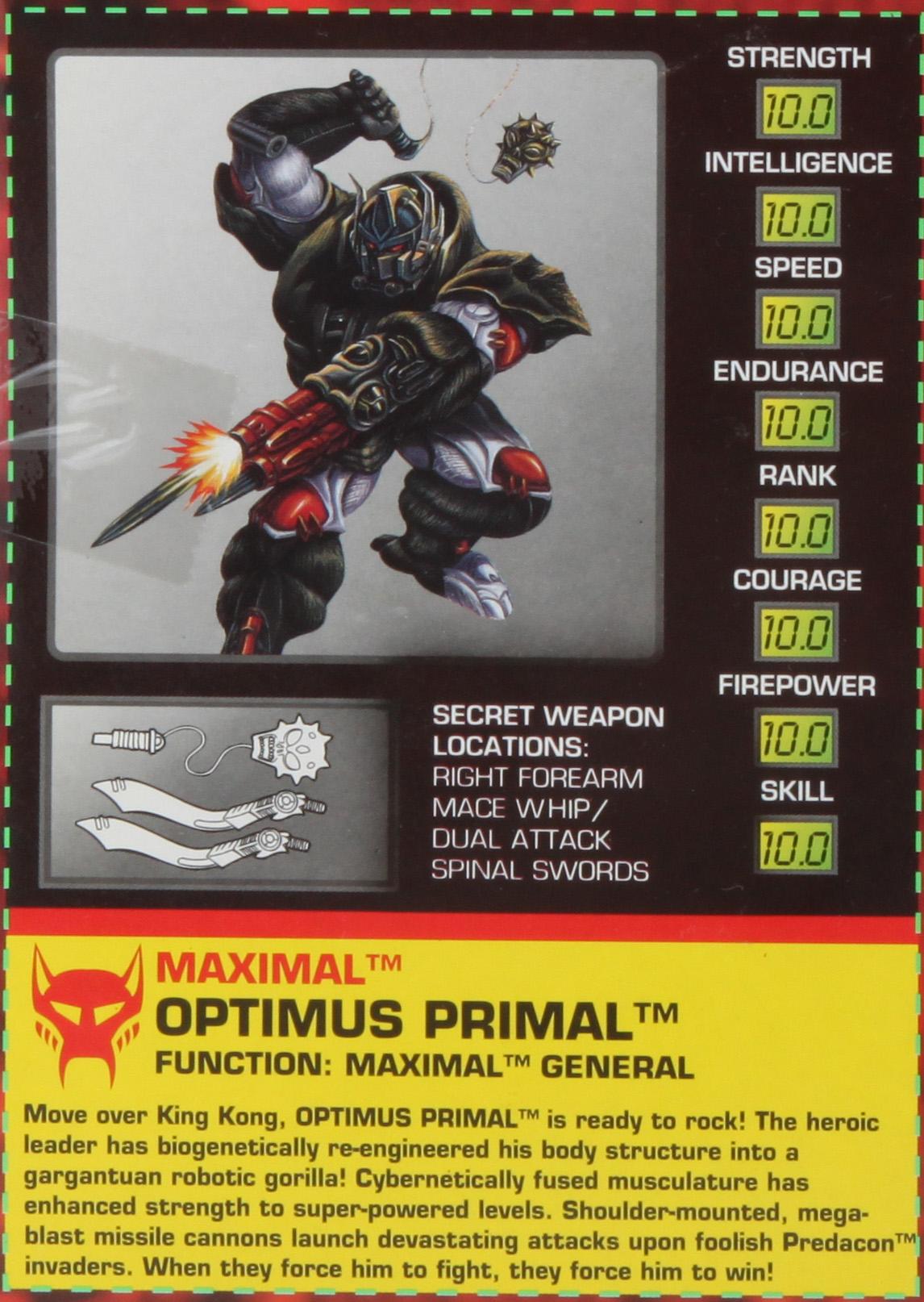 Optimus Primal Hires Scan