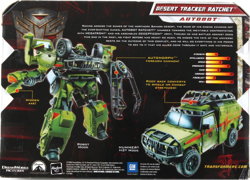 Voyager Class Desert Tracker Ratchet (Transformers, Movie ...