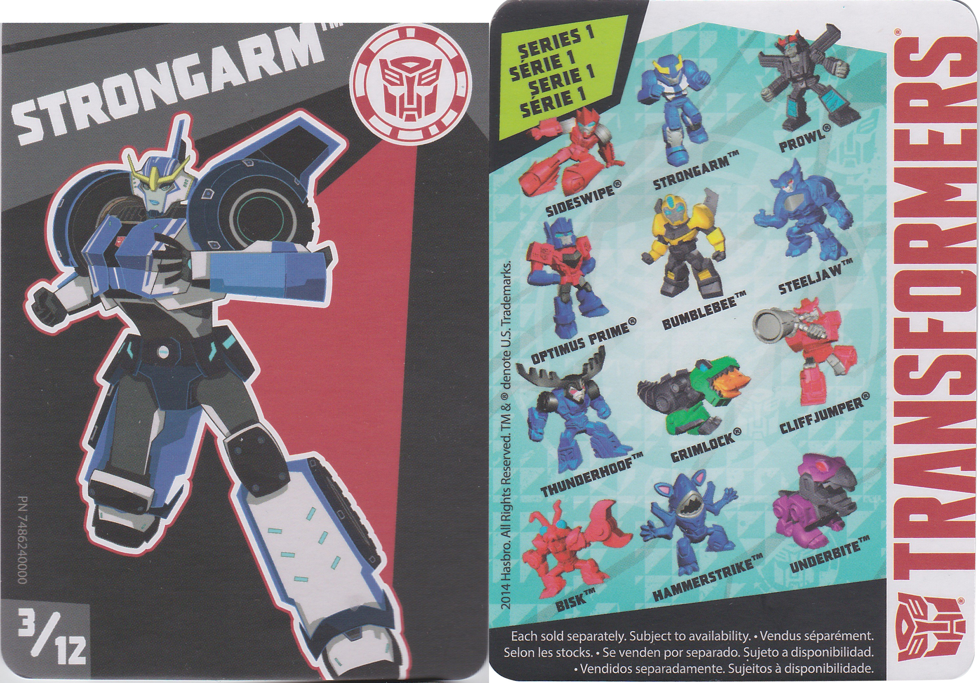 Transformers Tiny Titans Series 1 Robots in Disguise 3//12 Strongarm