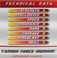 Cannon Force Ironhide hires scan of Techspecs