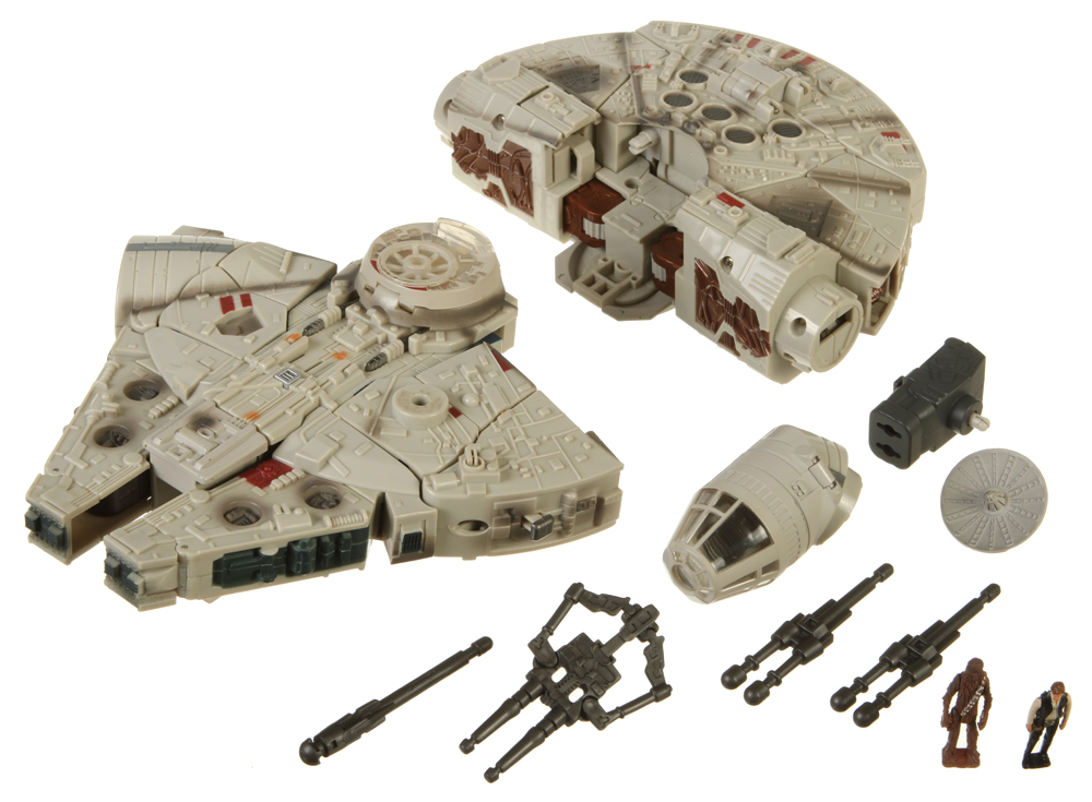 Basic Figures Millenium Falcon (Han Solo and Chewbacca) (Transformers, Crossovers, Rebel Alliance) | Collector's Guide Toy Info