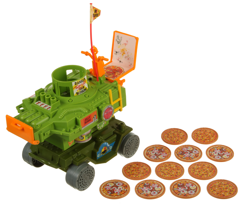 TMNT PIZZA THROWER FLYING DISC Vintage Action Figure Vehicle Part 1989