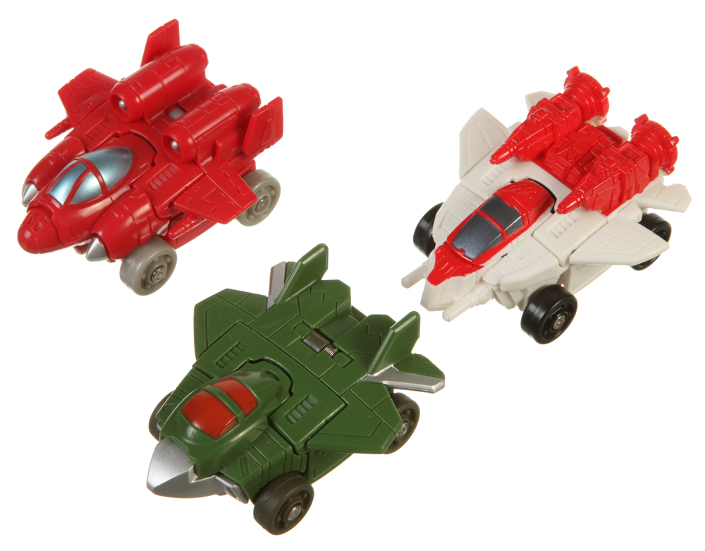 Transformers Bot Shots Triple Pack SkyQuake JetFire /& Power Glide Action Figures