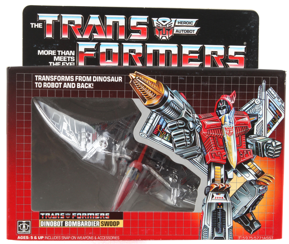 Transformers G1 Re-issue Heroic AutoBot Dinobot Bombardier Swoop Action Figures
