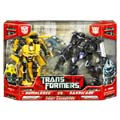 Boxed First Encounter: Bumblebee vs. Barricade Image