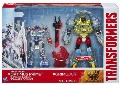 Boxed Silver Knight Optimus Prime and Grimlock Image