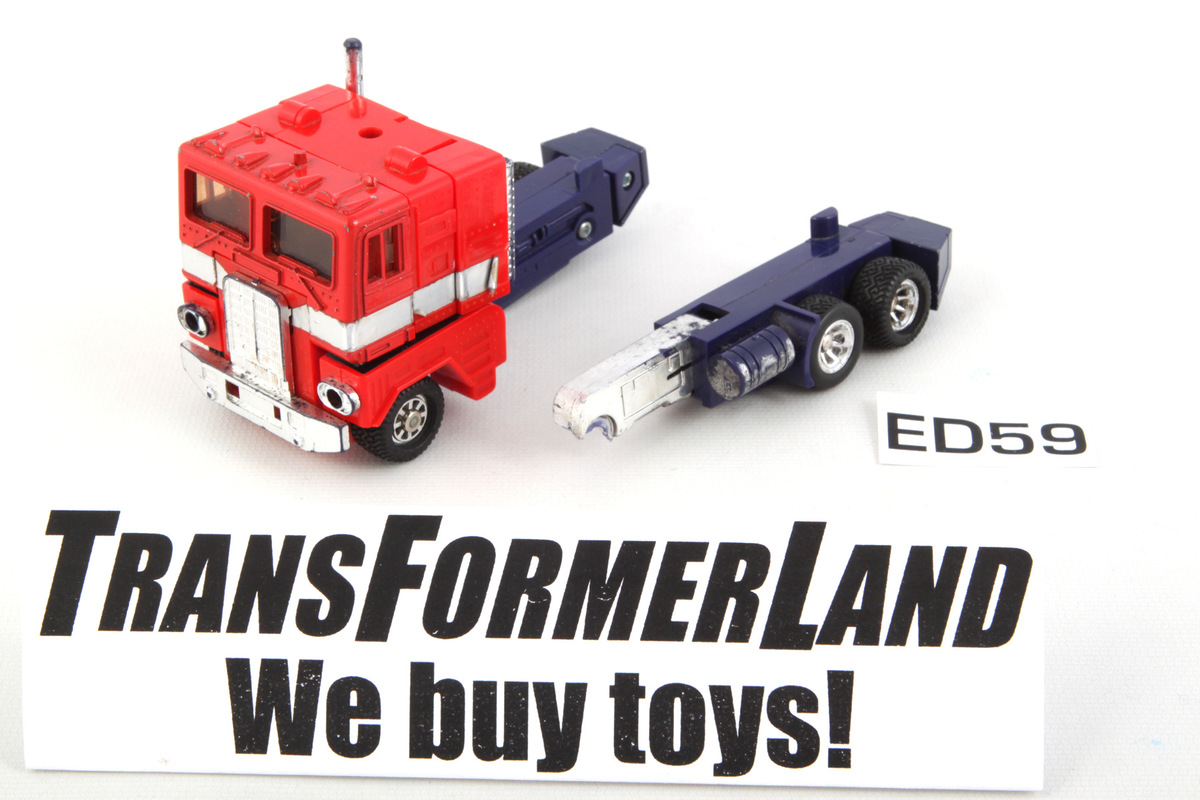 Transformers G1 Optimus Prime and trailer re-issued boxed KO two color series